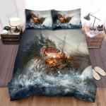 Sea Monster, The Destroyer Bed Sheets Spread Duvet Cover Bedding Sets