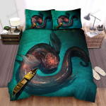 Sea Monster, Cute Friend Bed Sheets Spread Duvet Cover Bedding Sets