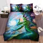 Sea Monster, Sea God Casting Spell Bed Sheets Spread Duvet Cover Bedding Sets