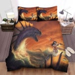 Sea Monster, Killing The Sea King Bed Sheets Spread Duvet Cover Bedding Sets