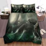 Sea Monster, Black Snakes In The Storm Bed Sheets Spread Duvet Cover Bedding Sets