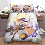 Halloween Sexy Witch And 2 Hands On Hers Bed Sheets Spread Duvet Cover Bedding Sets
