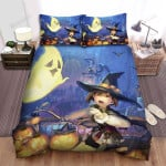 Halloween Party And Poor Witch Bed Sheets Spread Duvet Cover Bedding Sets