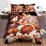 Halloween Demon And Witch Candies Art Bed Sheets Spread Duvet Cover Bedding Sets