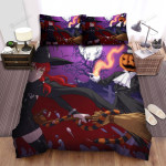 Halloween Following The Red Hairs Witch Bed Sheets Spread Duvet Cover Bedding Sets