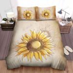 Sunflower Drawing Art Bed Sheets Spread Comforter Duvet Cover Bedding Sets