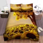 Sunflower Field Yellow Golden Sky Bed Sheets Spread Comforter Duvet Cover Bedding Sets