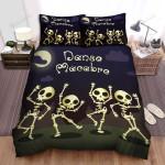 Happy Halloween Four Skeletons Dancing Bed Sheets Spread Duvet Cover Bedding Sets