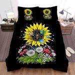 Sunflower Planets Flowers Mushroom Bed Sheets Spread Comforter Duvet Cover Bedding Sets