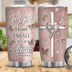 In God I Trust Stainless Steel Tumbler, Best Gift for Christian Faith Lover