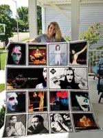 Marilyn Manson Quilt Blanket Ver 12