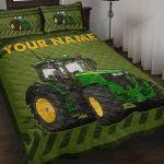 Personalized Custom Name John Deere Tractor Quilt Bedding Set