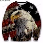Eagle Stars Stripes All Over Print Sweatshirt