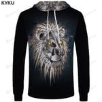 Lion Brand Gothic Punk Rock Animal 3d All Over Print Hoodie, Zip-Up Hoodie