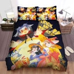 Halloween Trick Or Treat Witch And Vampire Bed Sheets Spread Duvet Cover Bedding Sets