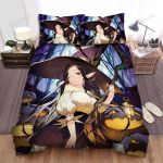 Halloween Jewelries On Witch Staff Bed Sheets Spread Duvet Cover Bedding Sets