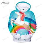 Rainbow Unicorn 3d All Over Print Hoodie, Zip-Up Hoodie