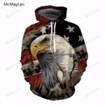 Eagle Animal 3d All Over Print Hoodie, Zip-Up Hoodie