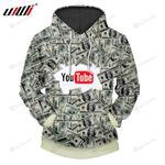 Youtube Dollar 3d All Over Print Hoodie, Zip-Up Hoodie