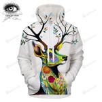 Art Pixie Forest Cold Sweat Deer 3d All Over Print Hoodie, Zip-Up Hoodie