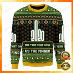 2020 The Year That Gave Us The Finger Ugly Christmas Sweater, All Over Print