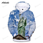Statue Of Liberty 3d All Over Print Hoodie, Zip-Up Hoodie
