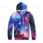 Space Bling Stars Galaxy 3d All Over Print Hoodie, Zip-Up Hoodie