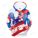 Balloons Usa Flag 3d All Over Print Hoodie, Zip-Up Hoodie