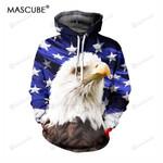 Usa Flag Stars Eagle Cap 3d All Over Print Hoodie, Zip-Up Hoodie