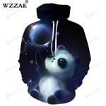 Cute Panda 3d All Over Print Hoodie, Zip-Up Hoodie