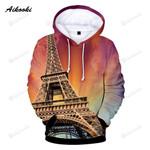 Eiffel Tower 3d All Over Print Hoodie, Zip-Up Hoodie
