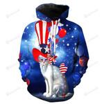 Cat America Flag 3d All Over Print Hoodie, Zip-Up Hoodie
