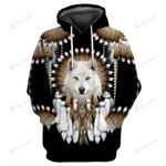 Wolf Dreamcatcher 3d All Over Print Hoodie, Zip-Up Hoodie