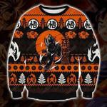 Songoku super saiyan fighting dragon ball christmas knitting pattern sweatshirt 3d t shirt hoodie sweater