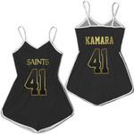 New Orleans Saints 41 Alvin Kamara Black Golden Edition Jersey Inspired Style
