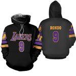 9 Rajon Rondo Lakers Jersey Inspired Style