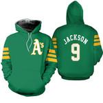 Oakland Athletics Reggie Jackson 9 2020 Mlb Green Jersey Inspired Style