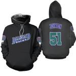 Randy Johnson Arizona Diamondbacks Black Jersey Inspired Style