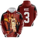 Dwyane Wade 3 Miami Heat Score Fire Background Legend For Fan