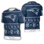 New England Patriots nfl ugly christmas 3d printed sweatshirt ugly