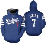Los Angeles Dodgers Julio Urias 7 2020 Mlb Blue Jersey Inspired Style