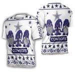 Christmas Gnomes Dallas Cowboys Ugly Sweatshirt Christmas 3D