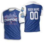 Los Angeles Dodgers Team Name World Series Champions 3D Personalized