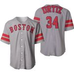 David Ortiz Boston Red Sox Player Gray 2019 Jersey Inspired Style