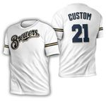 Travis Shaw Milwaukee Brewers White Jersey Inspired Style