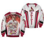 Paul Goldshmidt 46 St Louis Cardinals Red Background For Cardinals Fan