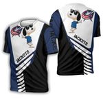 Columbus Blue Jackets Snoopy For Fans 3D