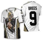Drew Brees New Orleans Saints White Background