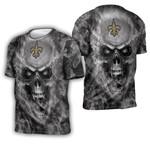 New Orleans Saints nfl fan skull