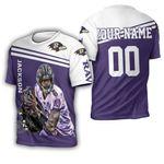 Lamar Jackson Baltimore Ravens 8 Legend 3D Personalized